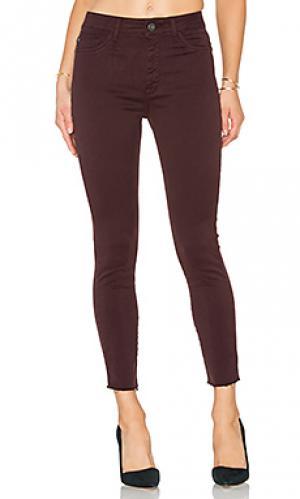 Супер узкие зауженные к низу джинсы высокой посадки no. 2 trimtone ankle DL1961. Цвет: none