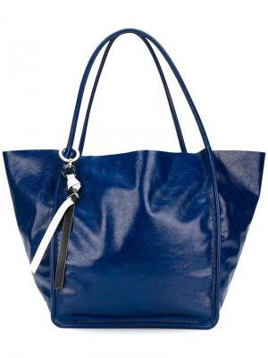 Большая сумка-тоут Proenza Schouler. Цвет: синий