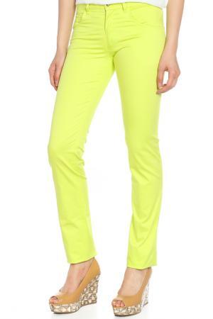 Капри джинсовые,пайетки Versace Jeans Couture. Цвет: сине-зеленый