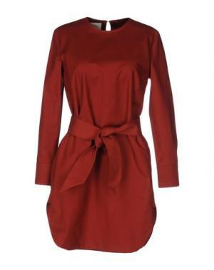 Короткое платье NANUSHKA. Цвет: кирпично-красный