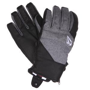 Перчатки сноубордические  Knife Chutes Glove Heather Grey Volcom. Цвет: черный,серый