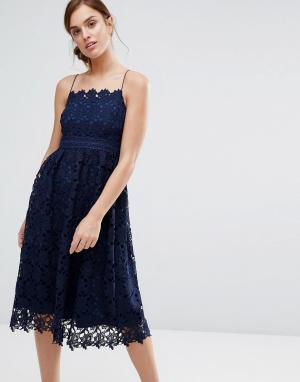 Little White Lies Кружевное платье Rhett. Цвет: темно-синий