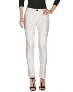 Джинсовые брюки ATELIER FIXDESIGN. Цвет: слоновая кость