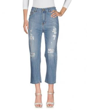Джинсовые брюки KARTIKA. Цвет: синий