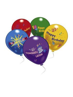 10 шариков С днем рождения! Everts. Цвет: желтый