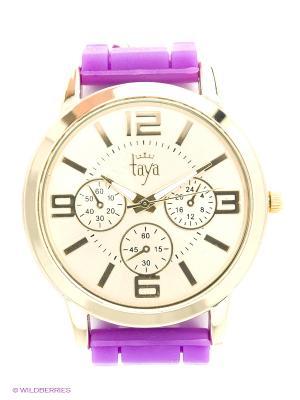 Часы Taya. Цвет: фиолетовый, золотистый