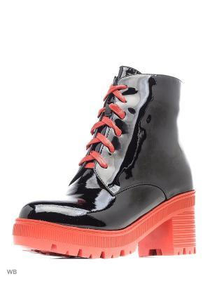 Ботинки LIBELLEN.. Цвет: черный, красный
