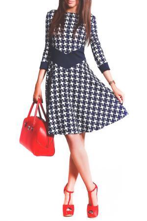 Платье FRANCESCA LUCINI. Цвет: гусиные лапки
