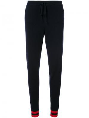 Спортивные брюки с принтом сердечек Chinti & Parker. Цвет: синий