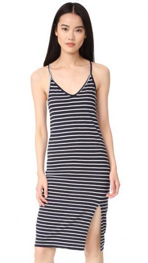 Платье без рукавов в полоску Stateside. Цвет: темно-синий