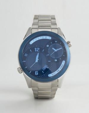 Police Стальные часы-браслет Dugite. Цвет: серый