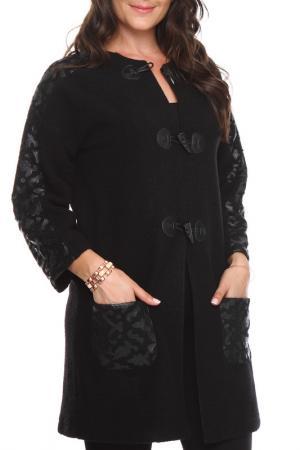 Пальто Zer otantik. Цвет: черный