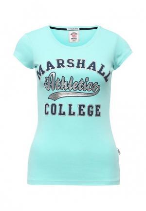 Футболка Marshall Original. Цвет: бирюзовый