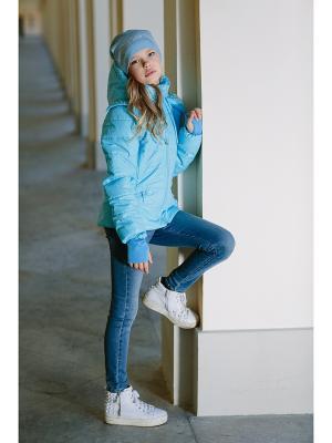 Куртка DUWALI. Цвет: голубой