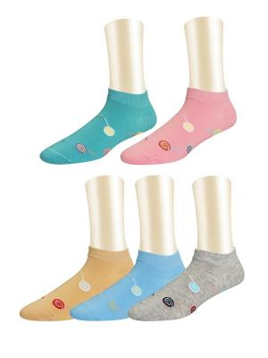 Носки, 5 пар Glamuriki. Цвет: черный, белый, желтый