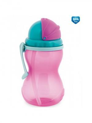 Поильник спортивный 370 мл, 12+, цвет: розовый Canpol babies. Цвет: розовый