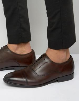 Base London Кожаные оксфордские туфли Richards. Цвет: коричневый