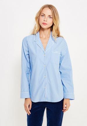 Рубашка домашняя Gap. Цвет: голубой