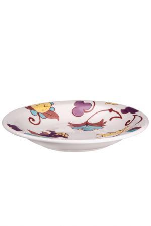 Тарелка суповая Мили 22 см Biona. Цвет: белый