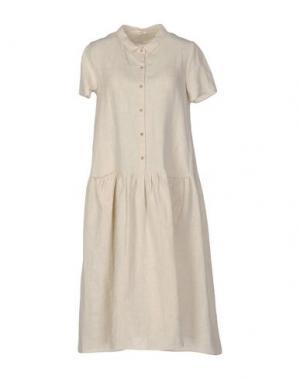 Платье до колена A.B APUNTOB. Цвет: бежевый
