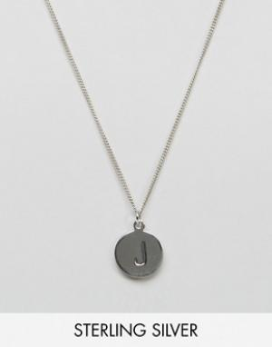 Fashionology Серебряное ожерелье с инициалом J. Цвет: серебряный