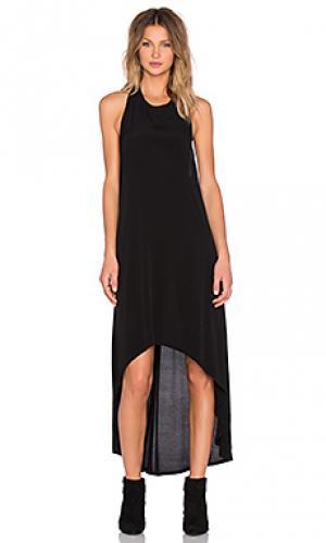 Платье миди lifter OAK. Цвет: черный