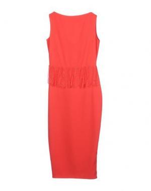 Платье длиной 3/4 RHEA COSTA. Цвет: коралловый