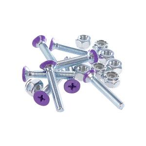 Винты для лонгборда  Deck Bolts Purple Phillips 1 1/8 Penny. Цвет: фиолетовый