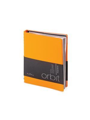 Ежедневник а5 п/дат. orbit (оранжевый) Bruno Visconti. Цвет: оранжевый