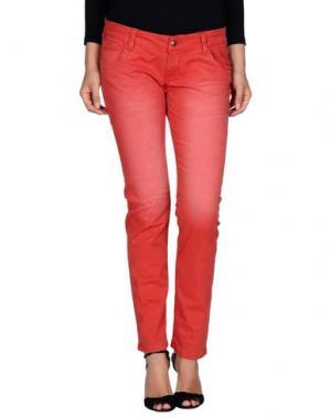 Джинсовые брюки U.S.A. JEANS SPORT. Цвет: красный