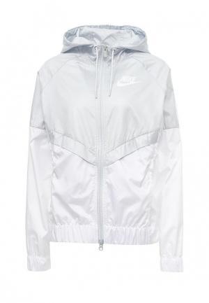 Ветровка Nike. Цвет: серый
