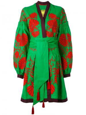 Платье Flower Shell Yuliya Magdych. Цвет: зелёный