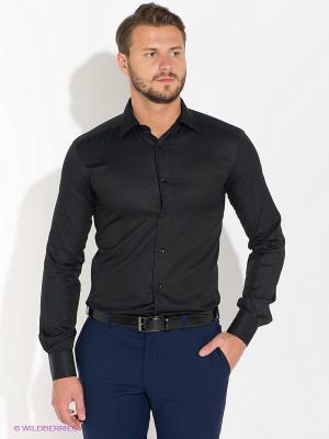 Рубашка Bazioni. Цвет: черный