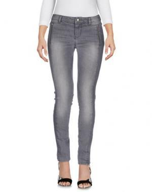 Джинсовые брюки INTROPIA. Цвет: серый
