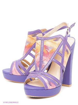 Босоножки LENA MILAN. Цвет: фиолетовый