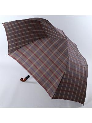 Зонт Trust. Цвет: серо-коричневый, бордовый, светло-коричневый