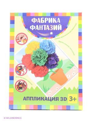 Аппликация 3D Цветы Лавка Чудес. Цвет: зеленый, фиолетовый, розовый, желтый, синий
