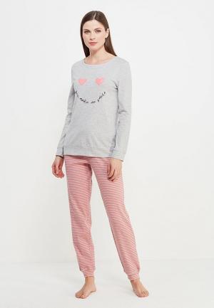 Пижама Marks & Spencer. Цвет: серый