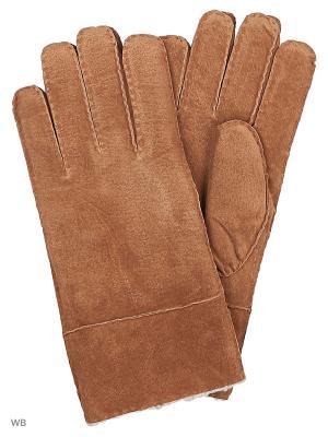 Перчатки DIJON LEE. Цвет: светло-коричневый