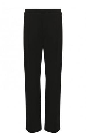 Однотонные расклешенные брюки с контрастной отделкой By Malene Birger. Цвет: черный