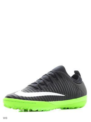 Шиповки MERCURIALX FINALE II TF Nike. Цвет: черный, белый, салатовый