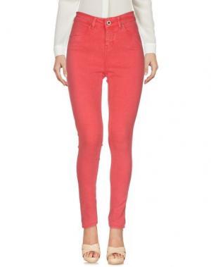Повседневные брюки SEVEN7. Цвет: коралловый