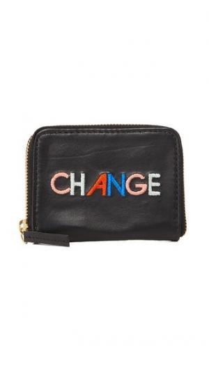 Кошелек для монет на молнии с надписью «Change» Lizzie Fortunato