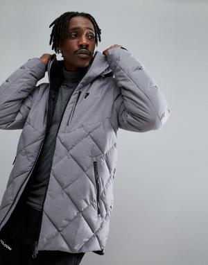 Peak Performance Серая меланжевая куртка Alaska. Цвет: серый