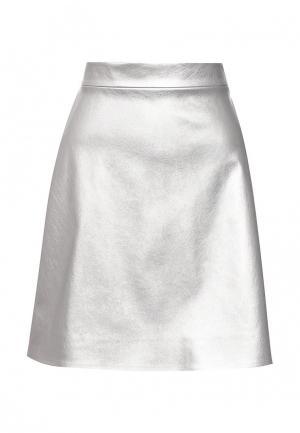 Юбка T-Skirt. Цвет: серебряный