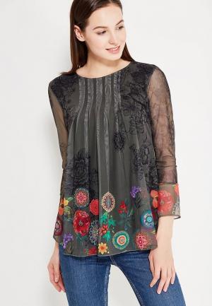 Блуза Desigual. Цвет: зеленый