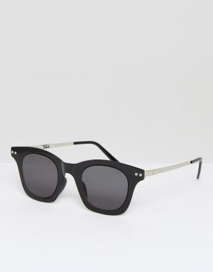 Spitfire Черные квадратные солнцезащитные очки Omnium. Цвет: черный