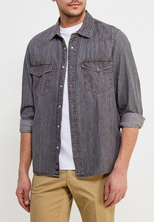 Рубашка джинсовая Mango Man. Цвет: серый