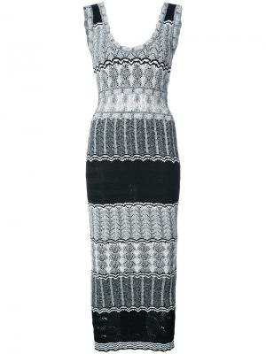Приталенное трикотажное платье Ronny Kobo. Цвет: чёрный