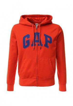 Толстовка Gap. Цвет: оранжевый